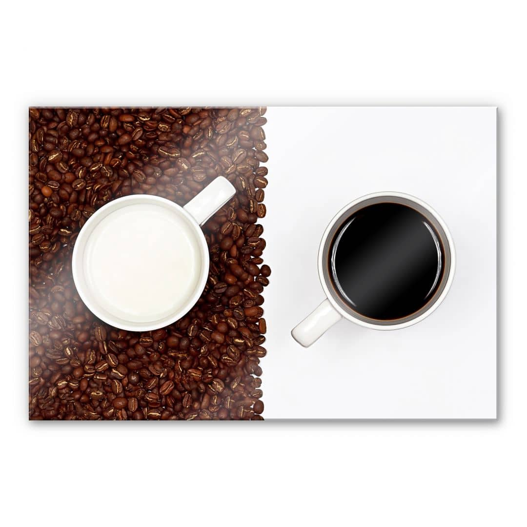 acrylic glass lavsen white espresso wall. Black Bedroom Furniture Sets. Home Design Ideas