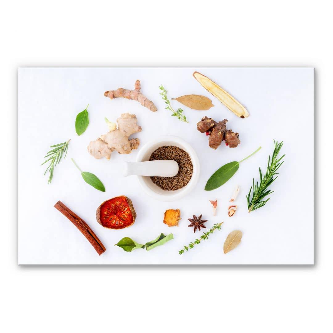 Tableau en verre acrylique herbes aromatiques - Herbes aromatiques cuisine liste ...