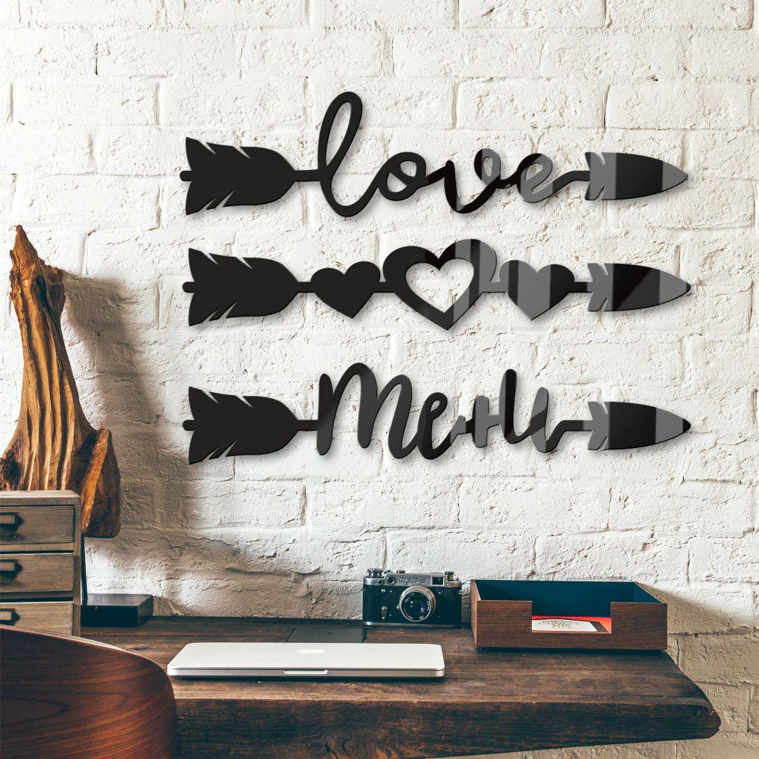 Acrylglas Pijlen Love