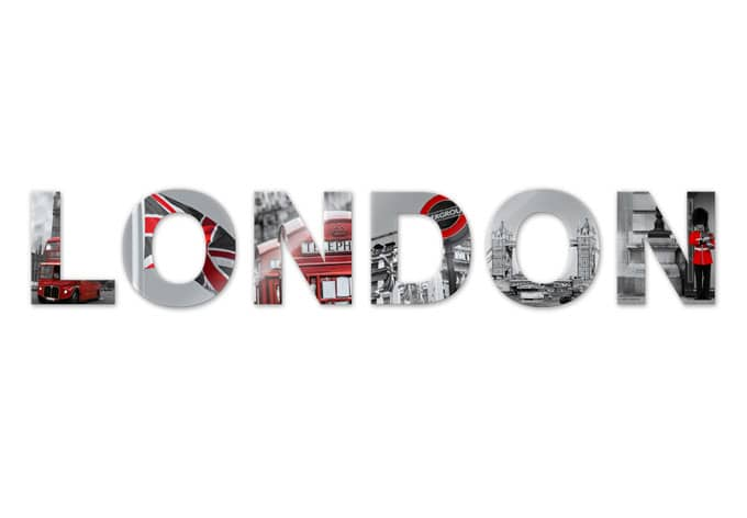 London Acrylic letters