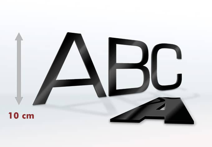 Acrylbuchstaben 10 cm Buchstabenhöhe