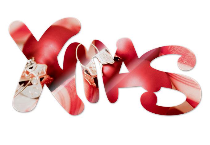 Acrylbuchstaben X-MAS 02