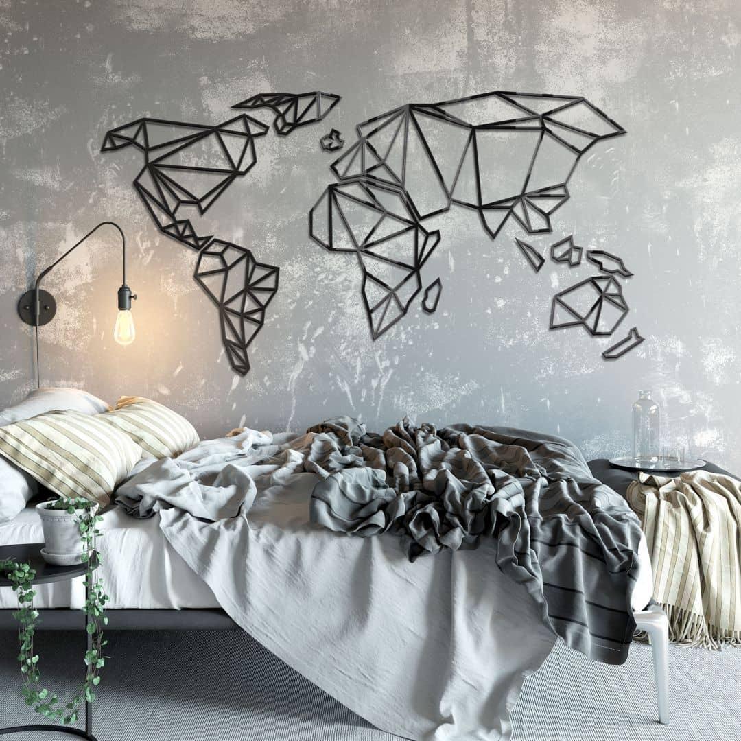3D Wereldkaart van plexiglas
