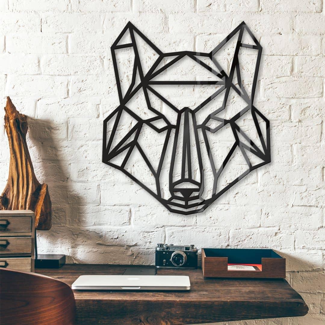 Origami Wolf van acrylglas