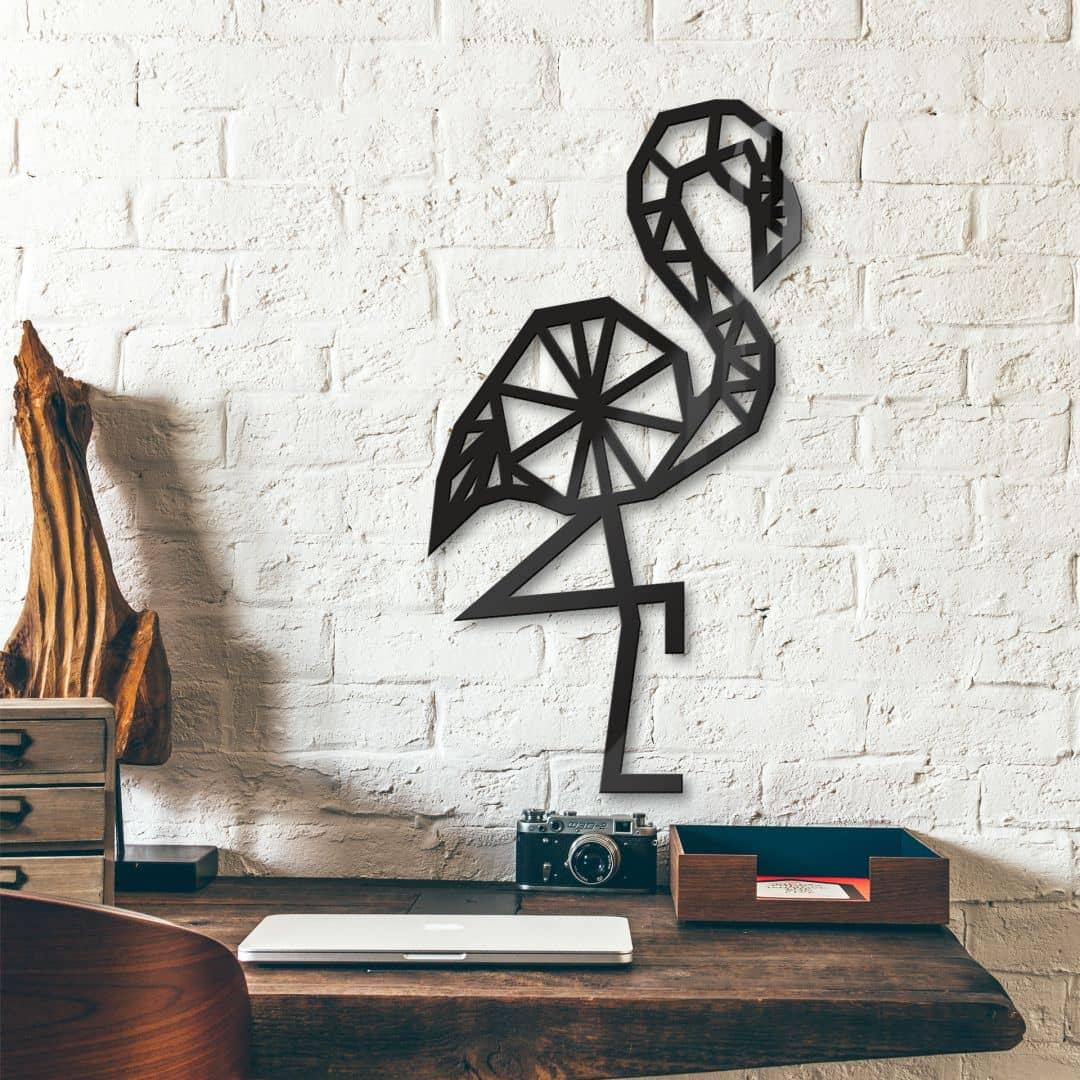 Acryldeko Origami Flamingo