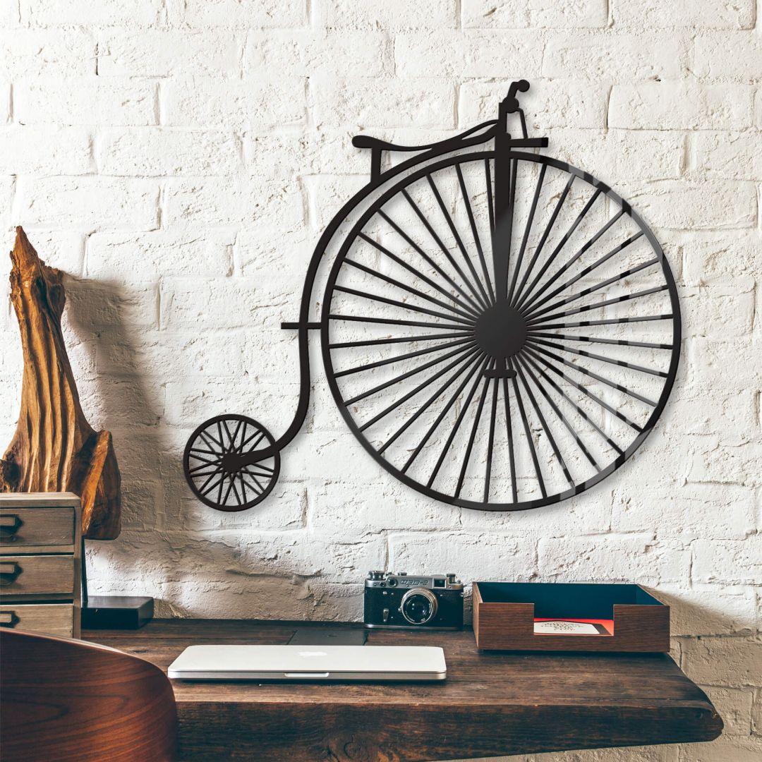 acrylglas altes fahrrad hochrad wall. Black Bedroom Furniture Sets. Home Design Ideas