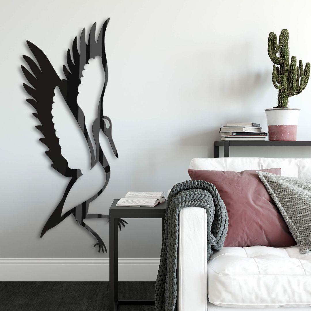 Acryldecoratie Kraanvogel