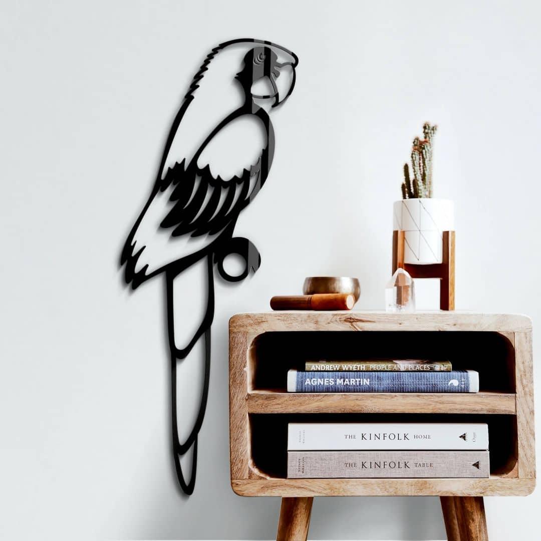 Acryldecoratie Papegaai