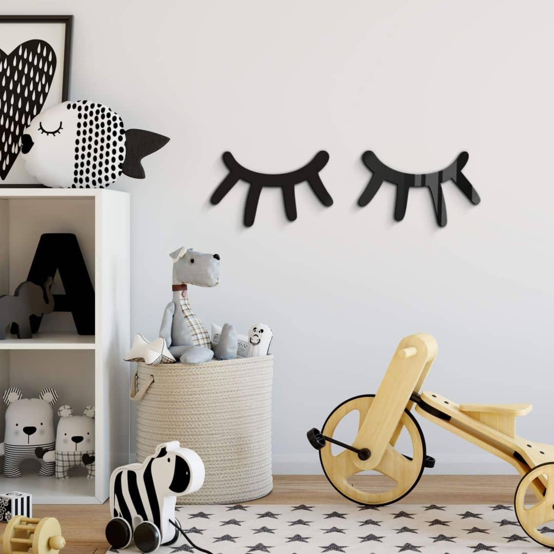 Acryldecoratie - Wimpers