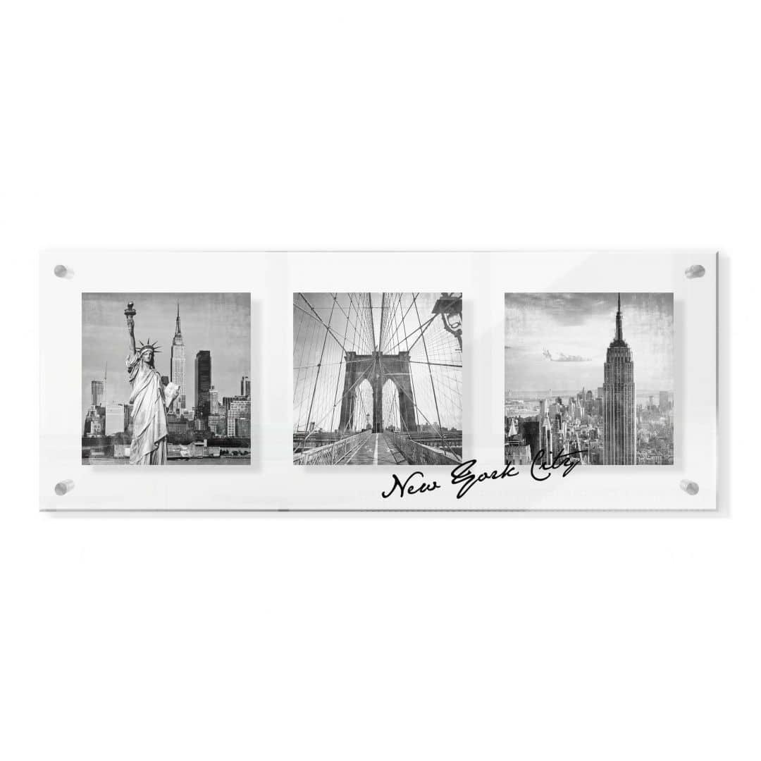 acrylglasbild impressions of new york city im galeriestil wall. Black Bedroom Furniture Sets. Home Design Ideas