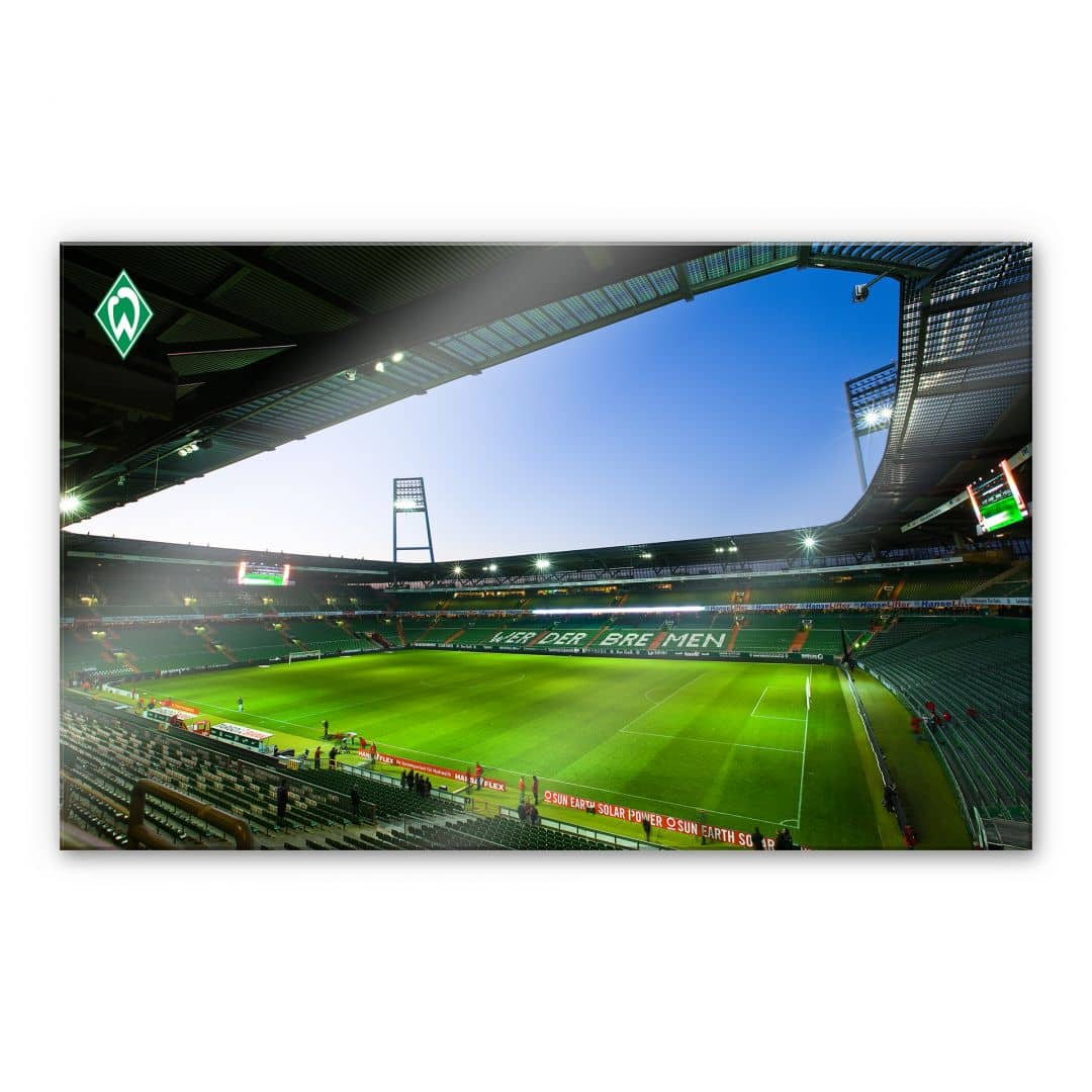 acrylglasbild werder bremen weserstadion innen das xxl. Black Bedroom Furniture Sets. Home Design Ideas