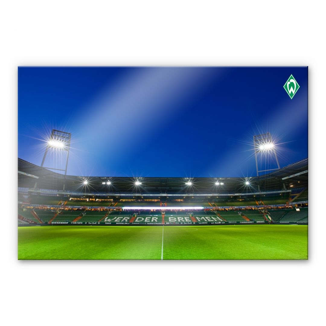 acrylglas werder bremen weserstadion trib ne das xxl. Black Bedroom Furniture Sets. Home Design Ideas