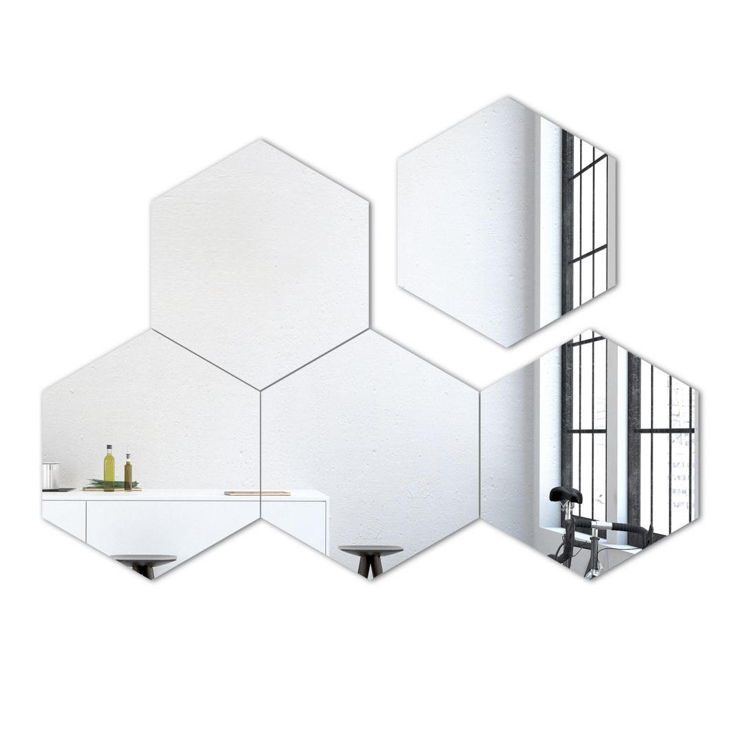 Wall Mirror Hexagon Mirror-Set