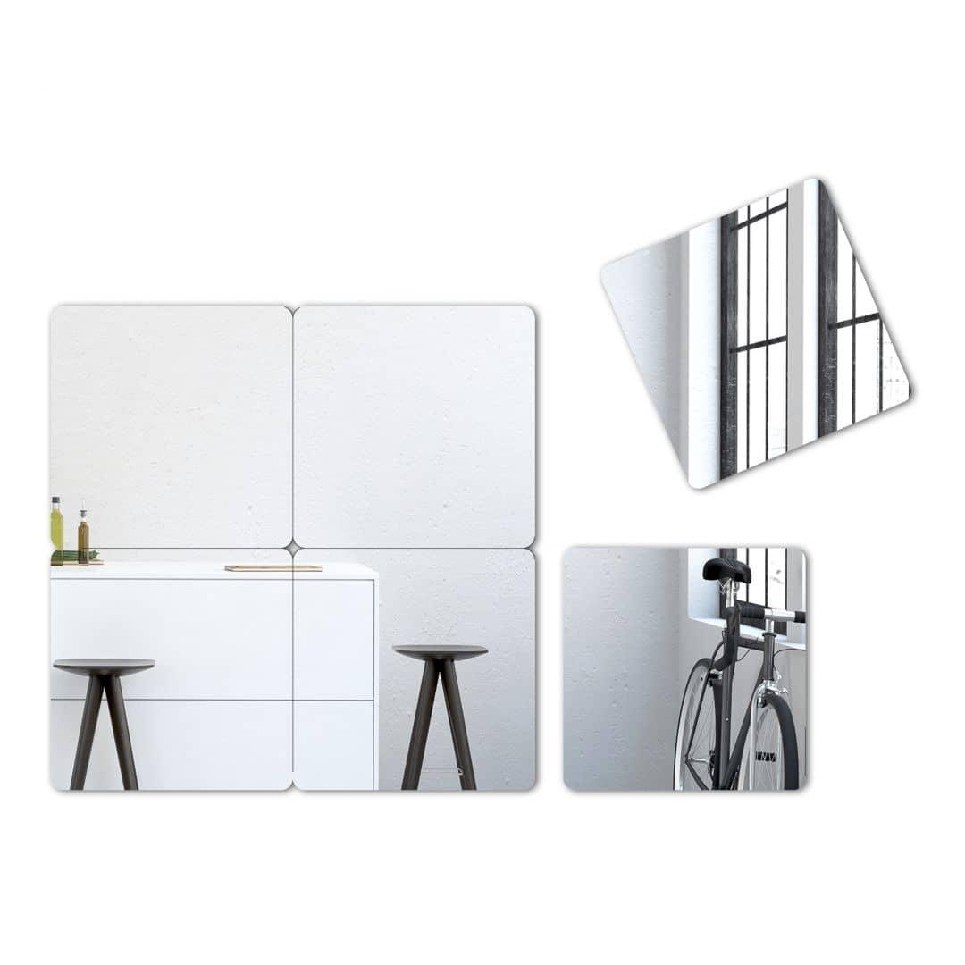 Square Set Wall Mirror