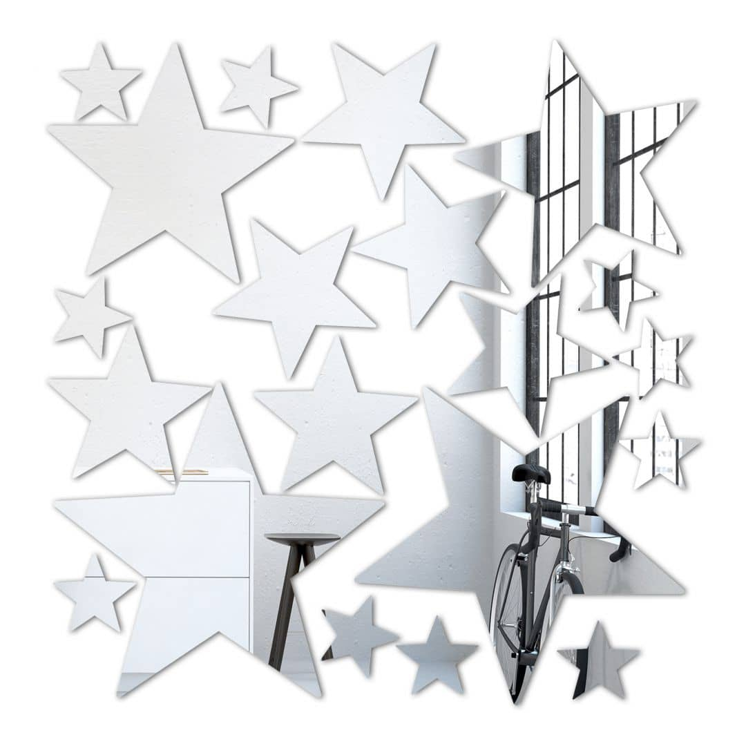 Stars Set (20 pieces) Wall Mirror