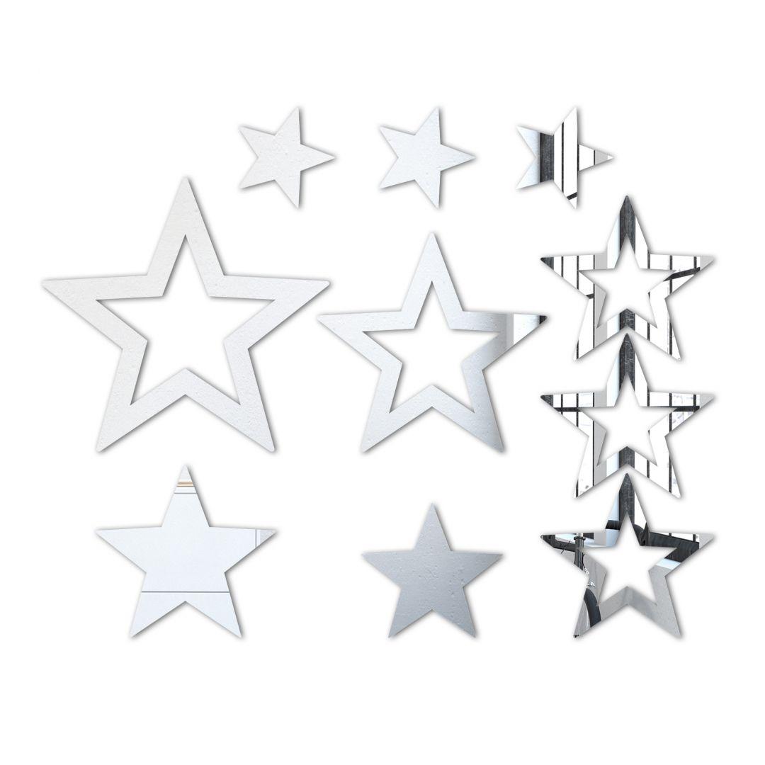 Stars Set (10 pieces) Wall Mirror