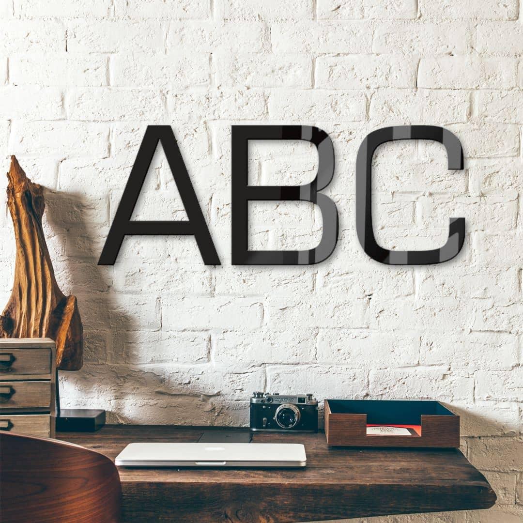 Acrylbuchstaben - Schriftart Eurostile