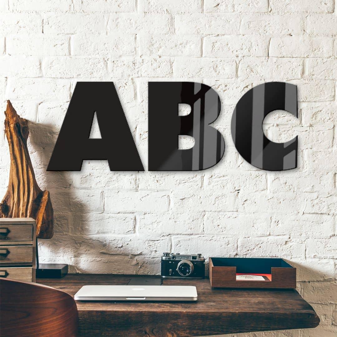 Acrylbuchstaben - Schriftart Futura