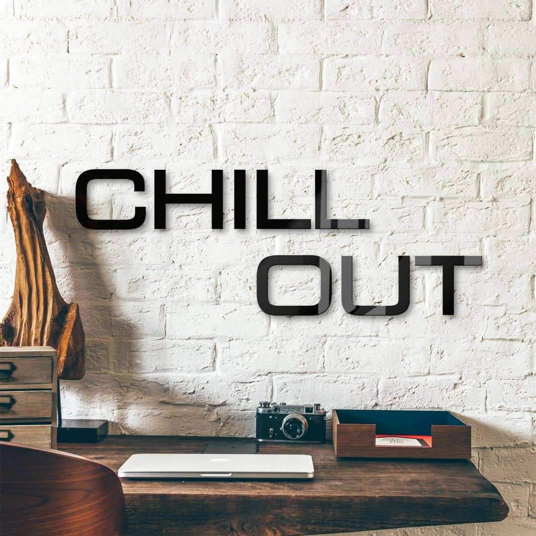 Decoratieletters Acrylglas Chill Out