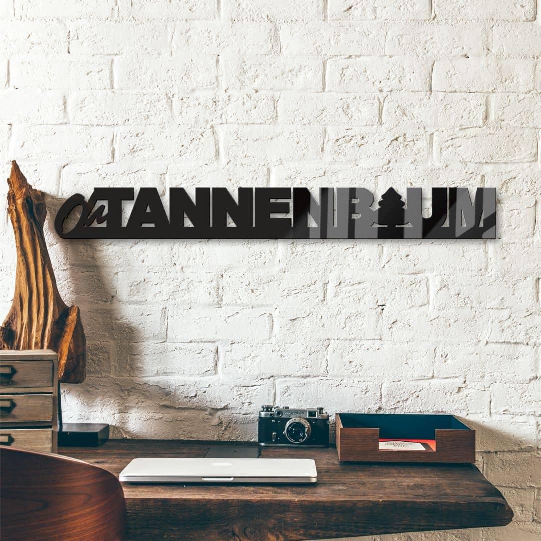Acrylbuchstaben Oh Tannebaum