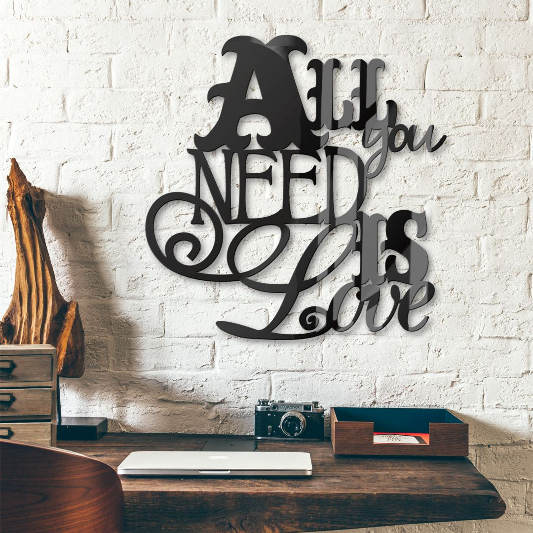 All you need is love – acrylglas