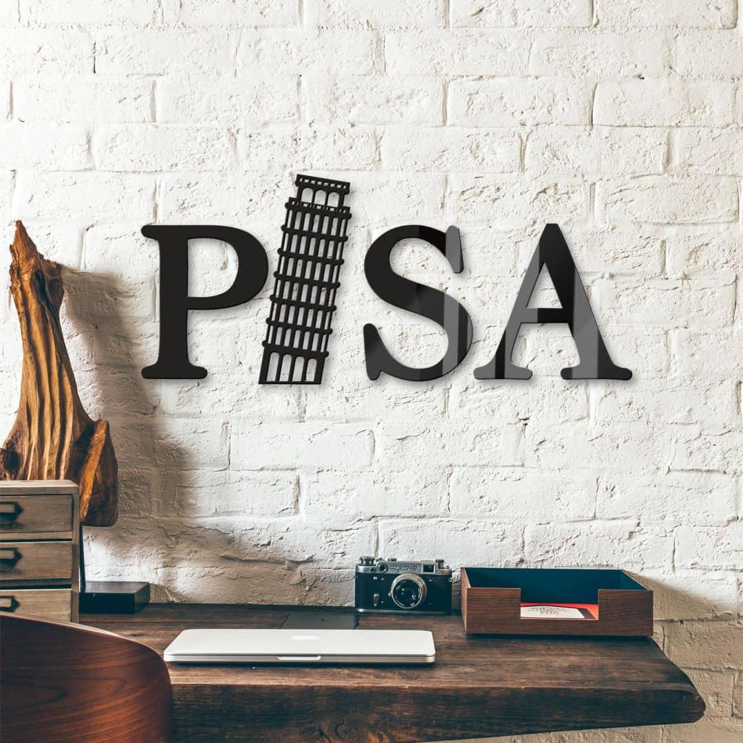 Acrylbuchstaben Pisa