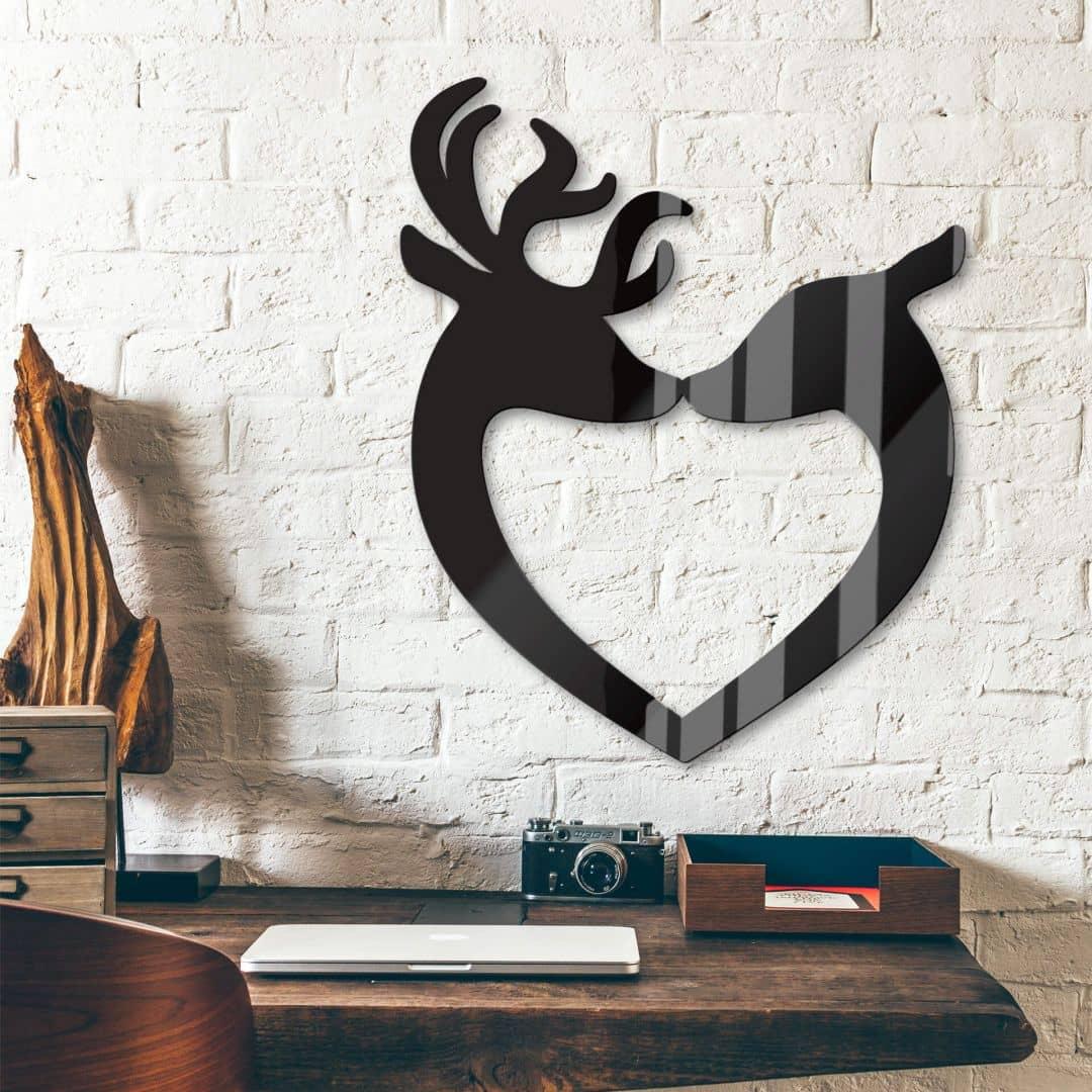 Acryldecoratie Herten Hart