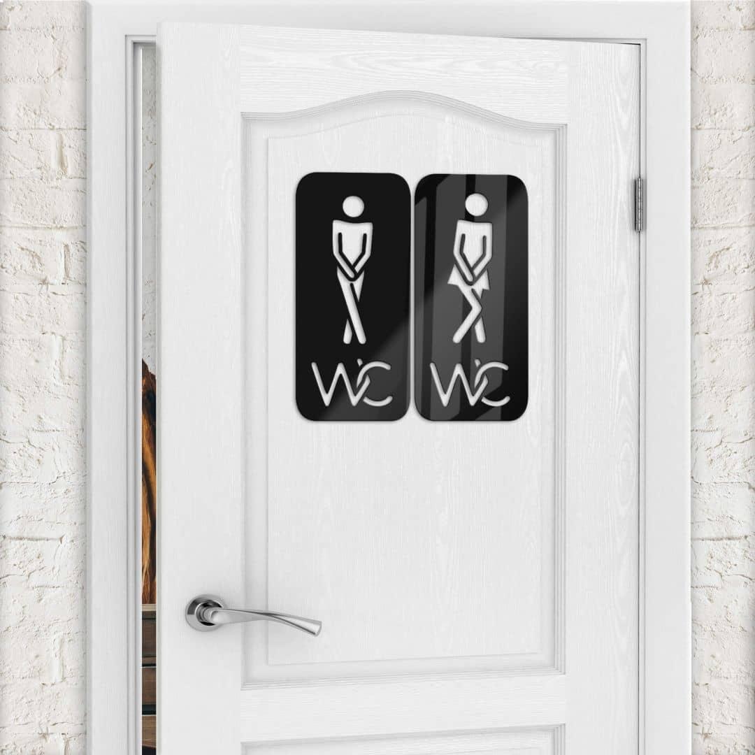Acryldecoratie WC 02 - Man - Vrouw