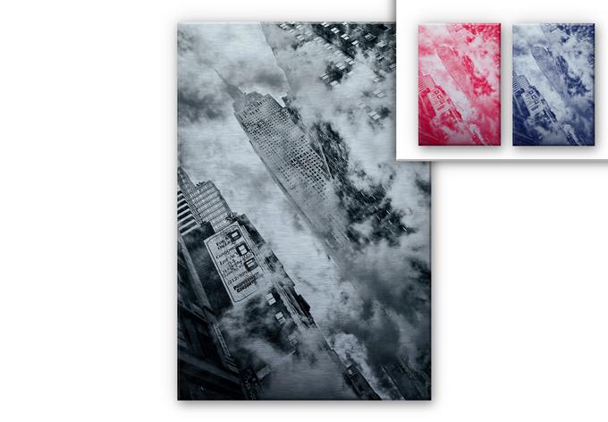 Bravin Aluminium print - The streets of NYC