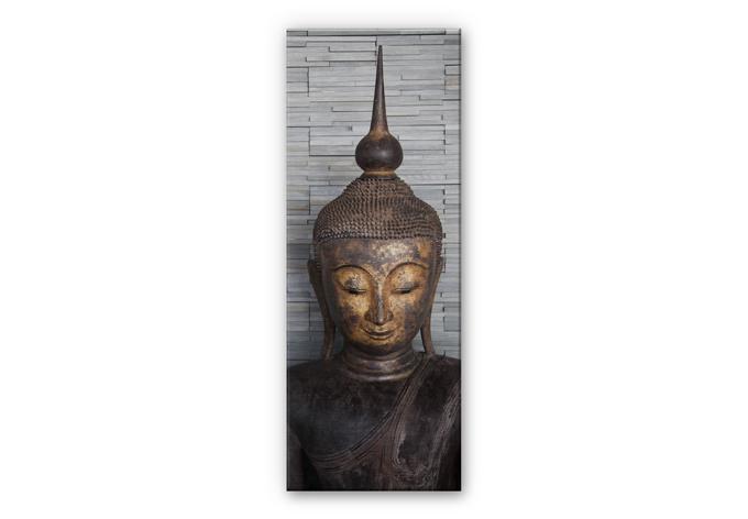 alu dibond wandbild mit silbereffekt thailand buddha ruhe und entspannung f r die wand wall. Black Bedroom Furniture Sets. Home Design Ideas
