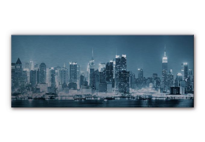 aluminium dibond new york night panorama. Black Bedroom Furniture Sets. Home Design Ideas