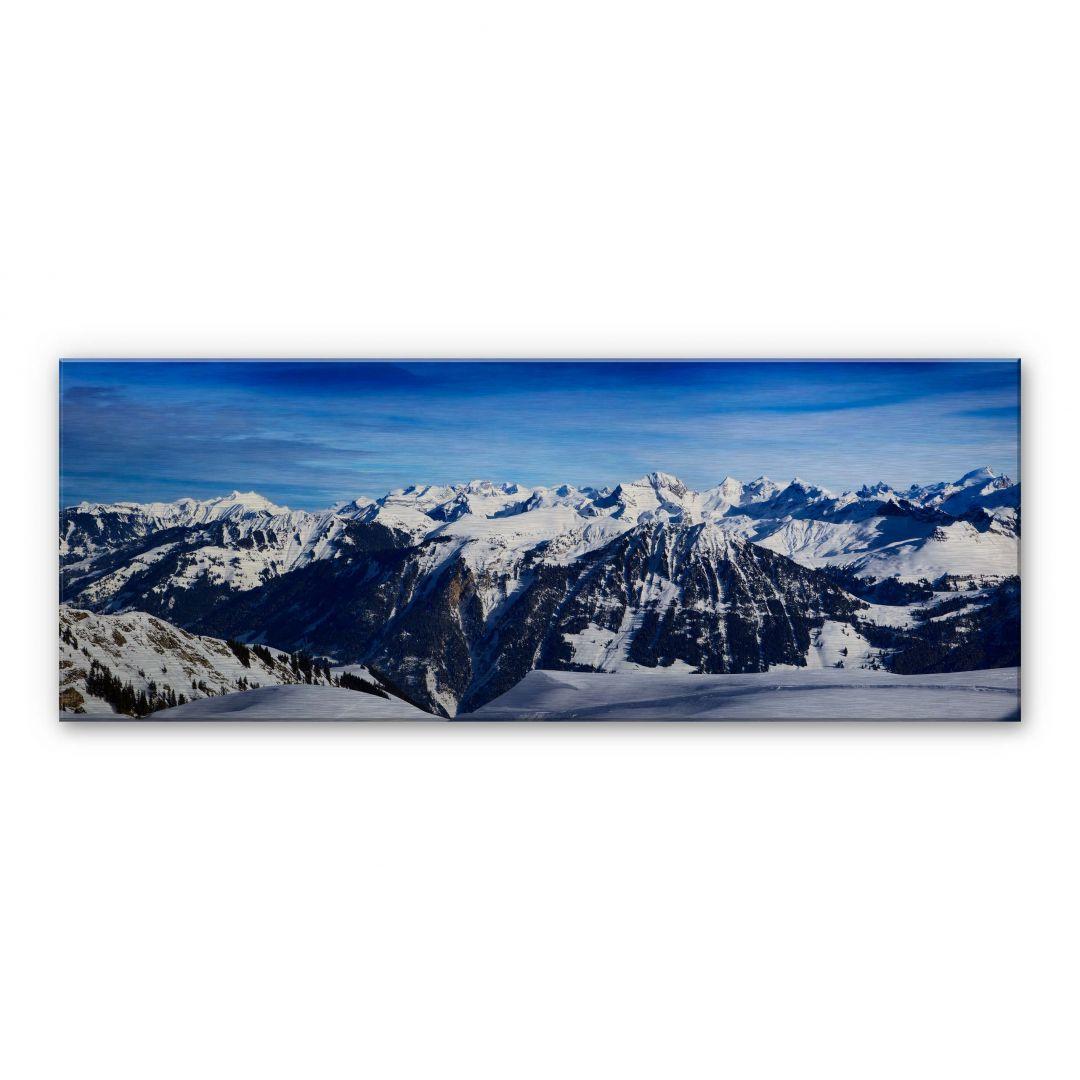 stampa su alu dibond panorama delle alpi. Black Bedroom Furniture Sets. Home Design Ideas