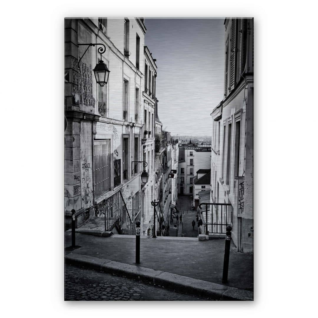 tableau en alu dibond montmartre wall. Black Bedroom Furniture Sets. Home Design Ideas