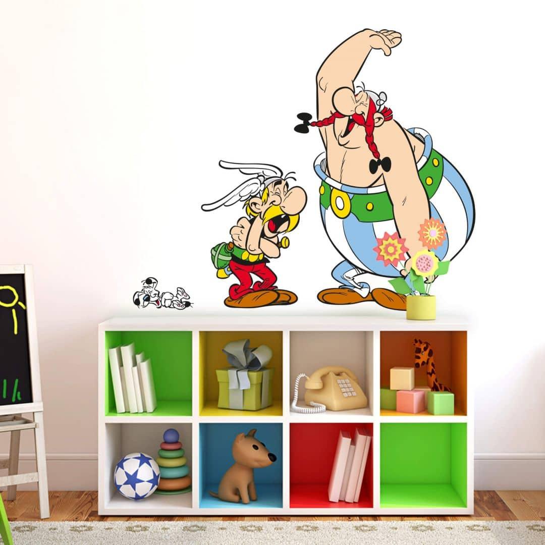 wandtattoo asterix obelix ein mittelschwerer lachanfall wall. Black Bedroom Furniture Sets. Home Design Ideas