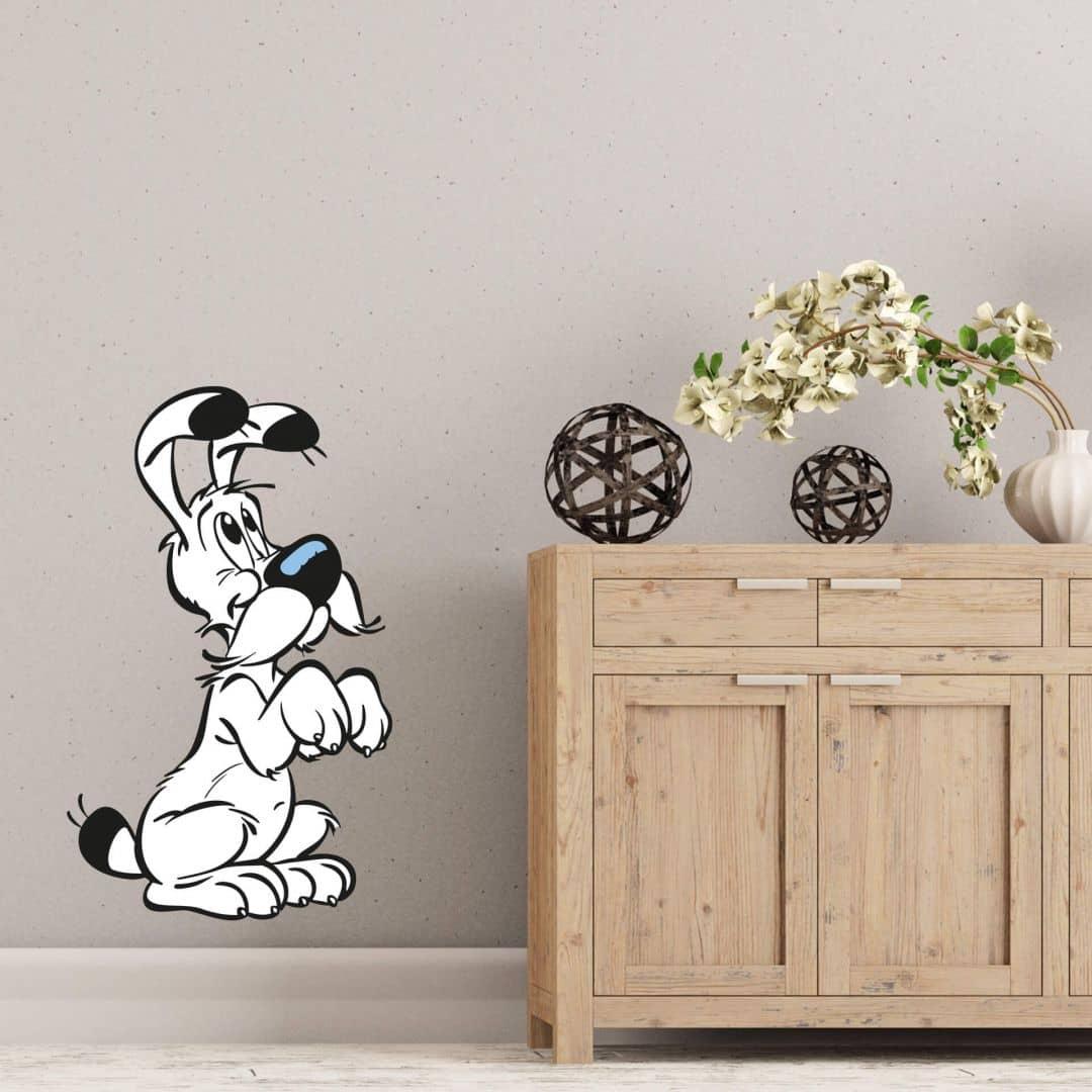 wandtattoo asterix obelix niedlicher idefix wall. Black Bedroom Furniture Sets. Home Design Ideas