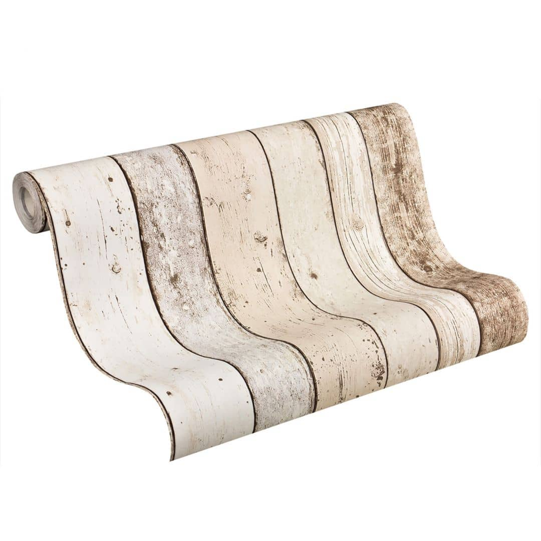 A.S. Création Tapete Best of Wood`n Stone 2nd Edition beige, braun, weiß