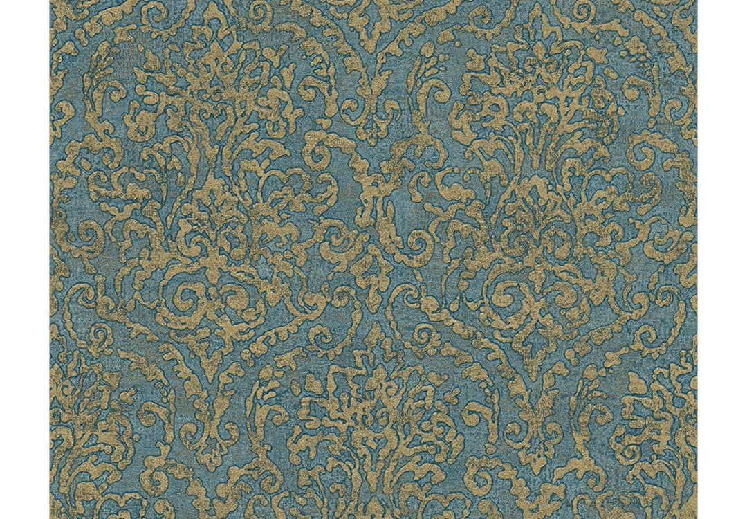 a s cr ation tapete bohemian burlesque blau gr n metallic wall. Black Bedroom Furniture Sets. Home Design Ideas