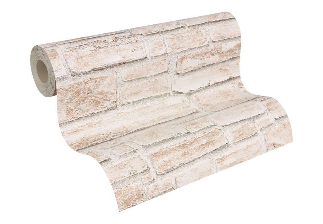 papier peint structure profil e a s cr ation dekora natur 6 blanc signal beige brun gris mousse. Black Bedroom Furniture Sets. Home Design Ideas
