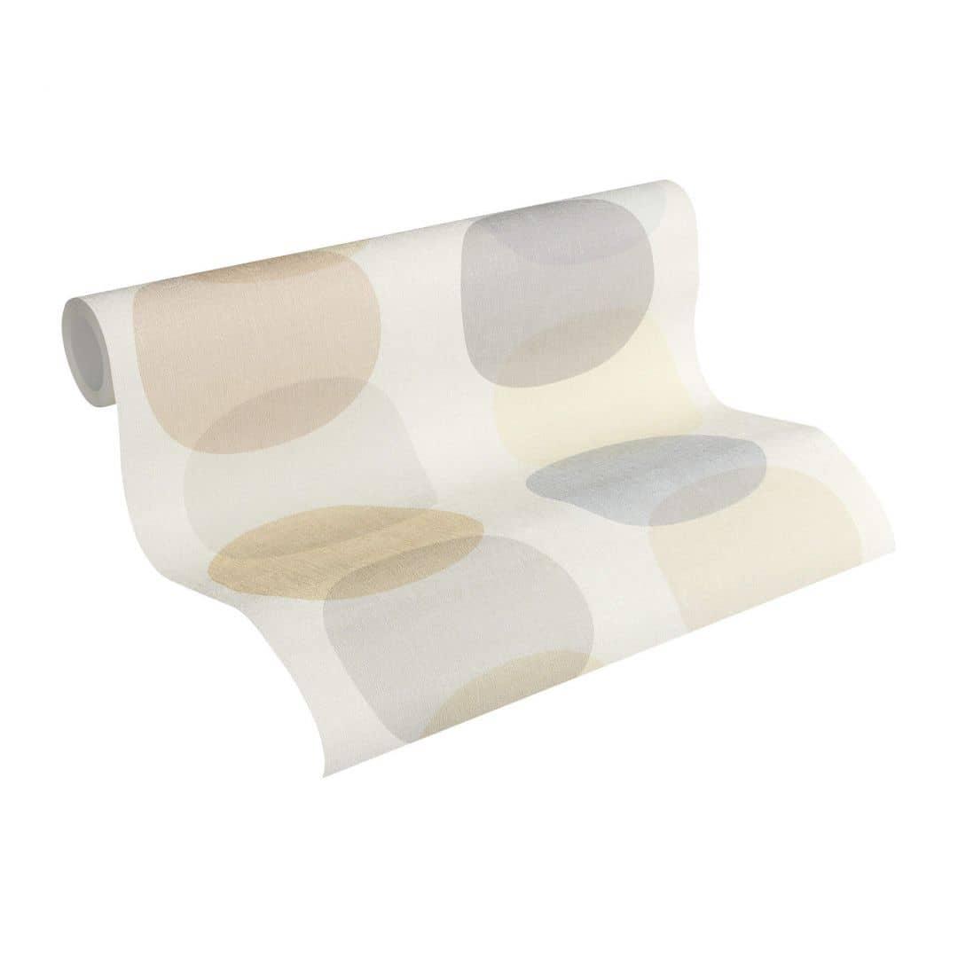 a s cr ation tapete pop colors beige braun grau 355903 wall. Black Bedroom Furniture Sets. Home Design Ideas