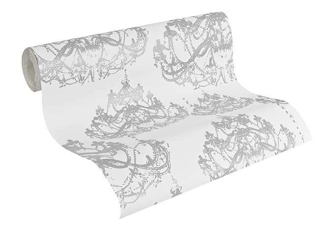 a s cr ation vliestapete naf naf platingrau signalwei wall. Black Bedroom Furniture Sets. Home Design Ideas