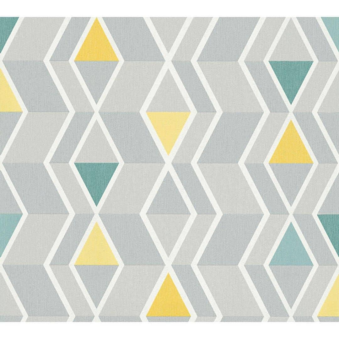 A.S. Création Tapete New Look gelb, grau, grün
