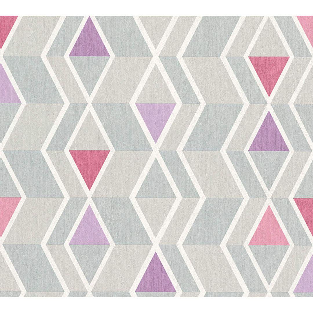 A s cr ation tapete new look grau lila 329932 wall for Tapete lila grau