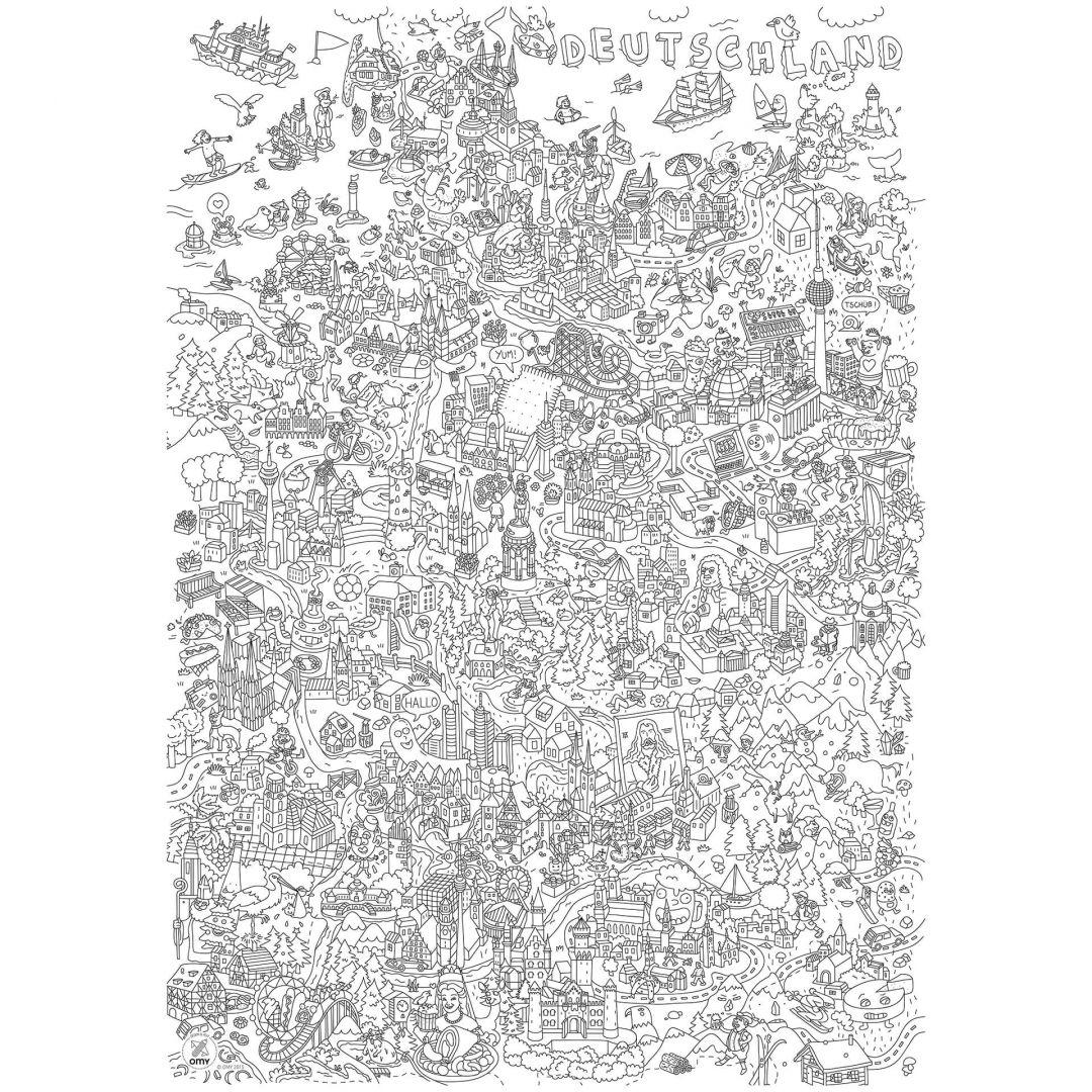 Ausmalposter - Deutschland 70x100 cm