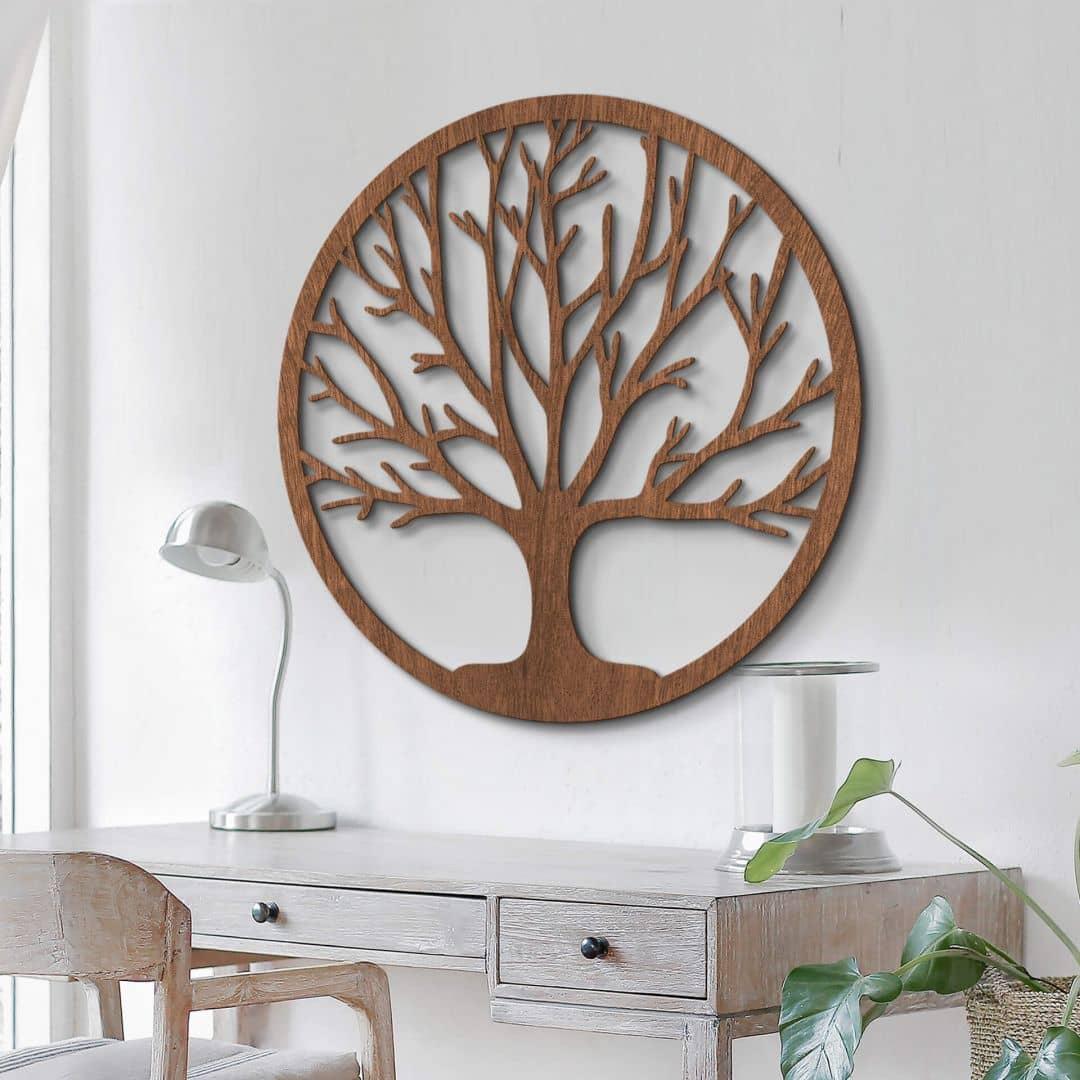 Houten Decoratie Tree of Life - Mahonie fineer
