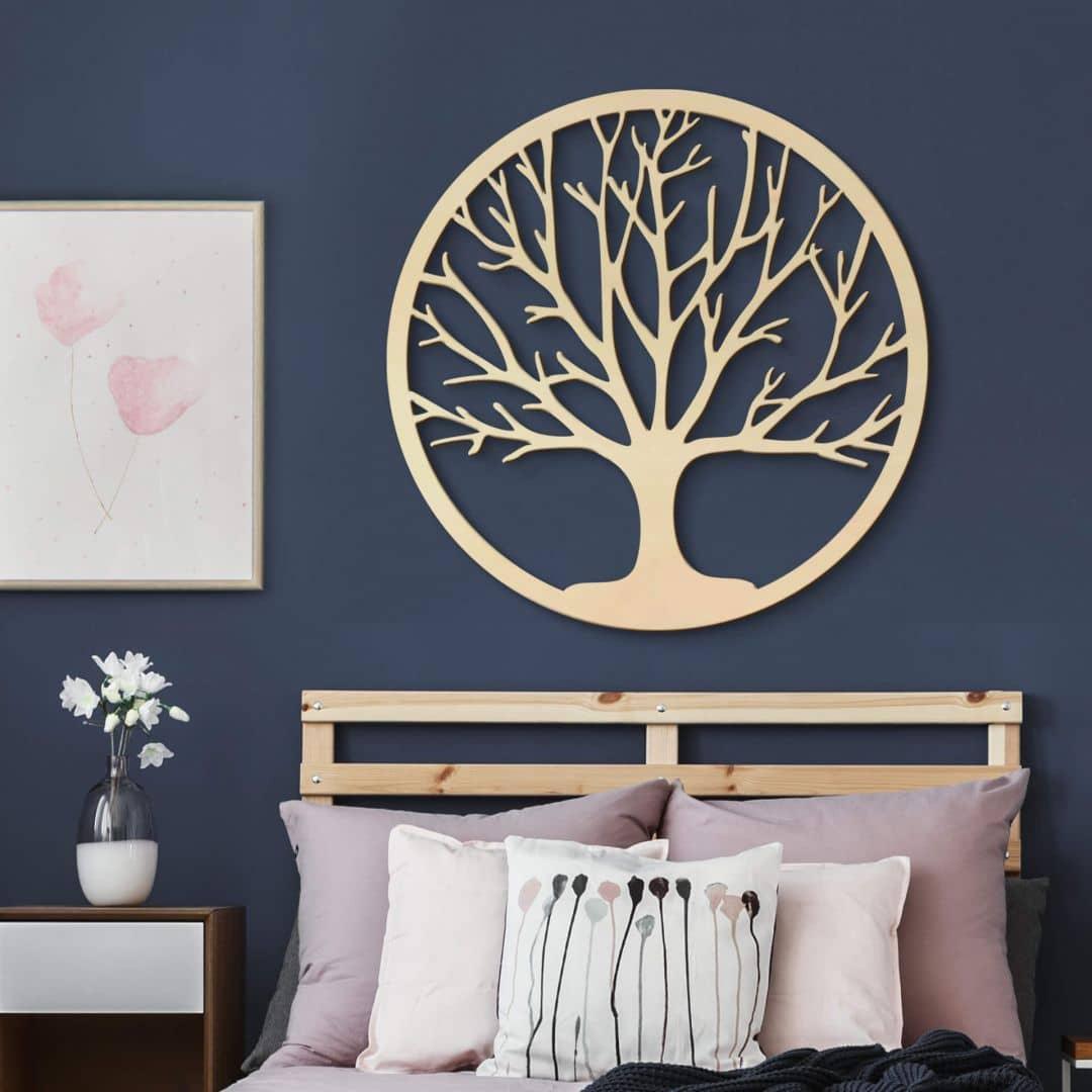Holzdeko Pappel Furnier Baum Des Lebens Wall Art De