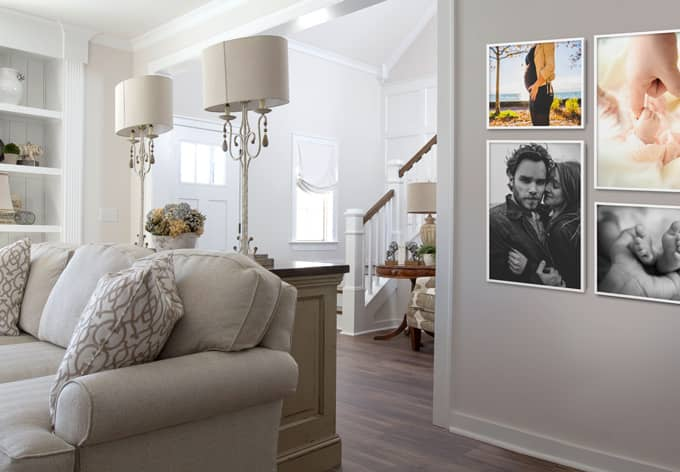 Cornici in legno per foto set 01 wall for Targhe decorative in legno