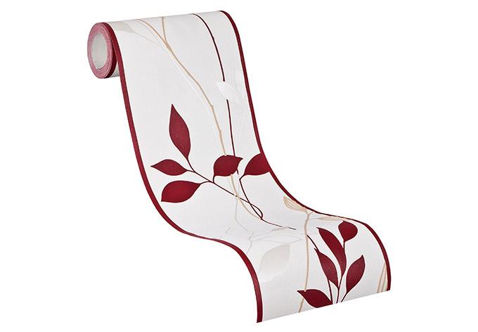 Bordo decorativo livingwalls avenzio 4 color crema rosso for Bordi decorativi per pareti