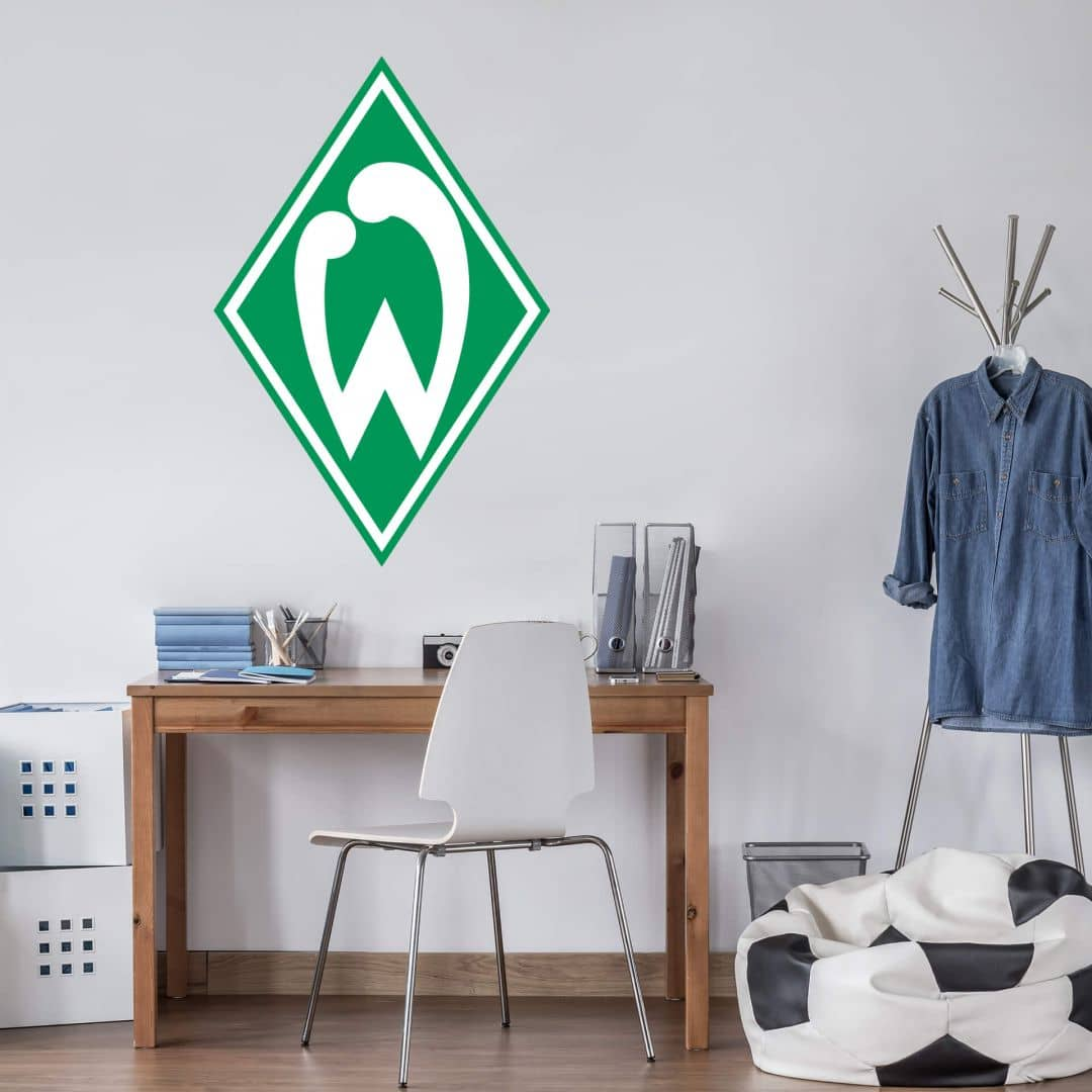 wandtattoo werder bremen logo das wandtattoo f r werder. Black Bedroom Furniture Sets. Home Design Ideas