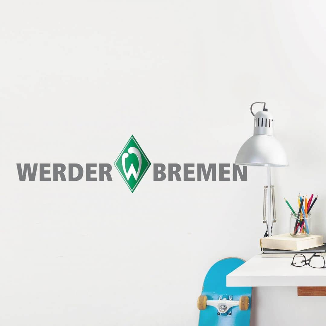 Wandtattoo Werder Bremen Schriftzug