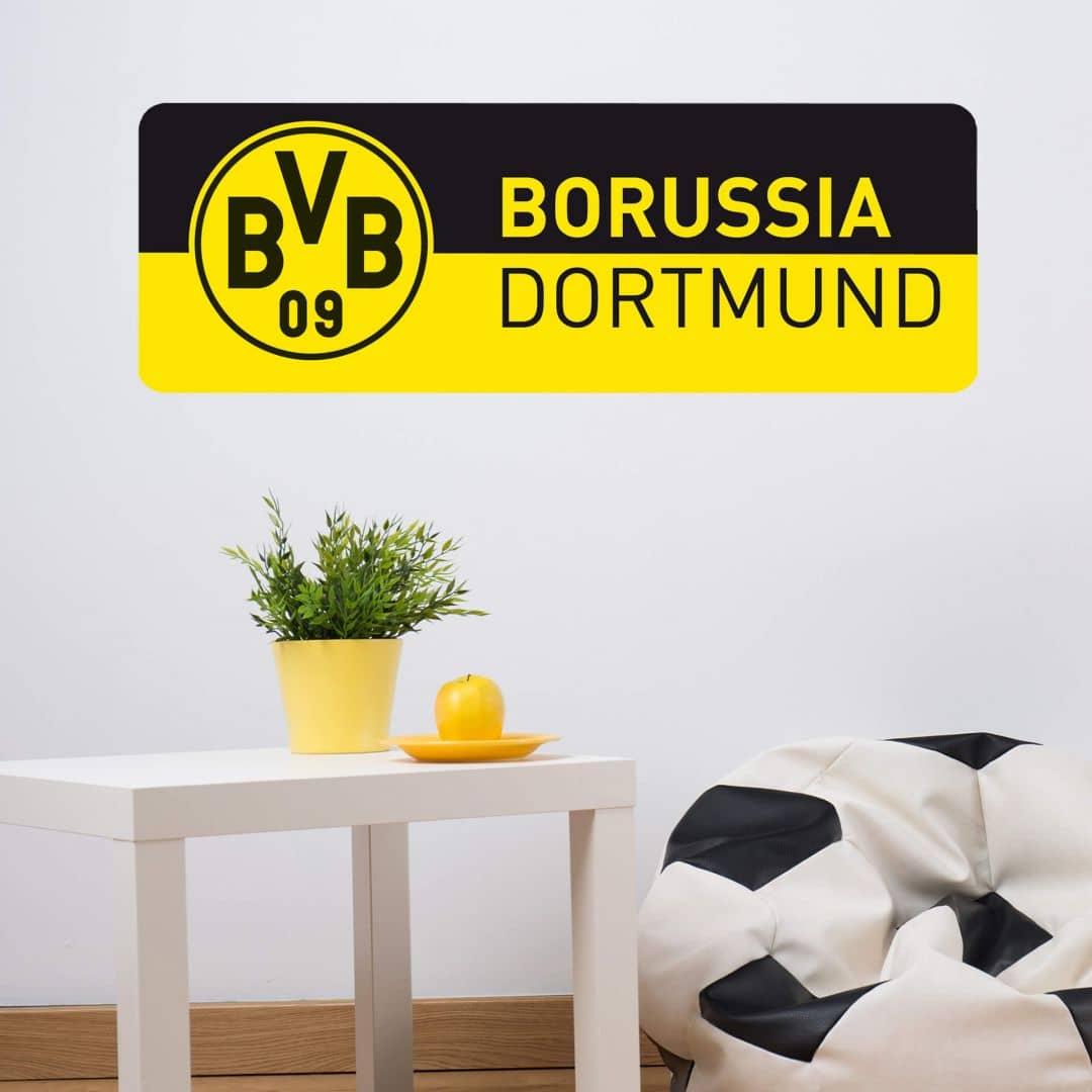 Wandtattoo BVB Schriftzug Banner schwarz/gelb